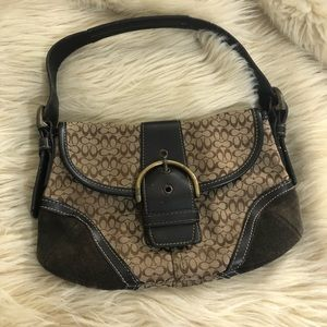 Coach leather mini logo small handbag
